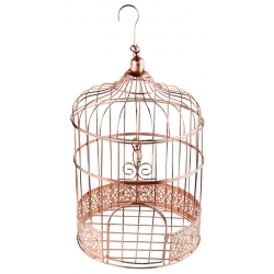 Tirelire cage Rose Gold