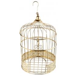 Tirelire cage métallisée