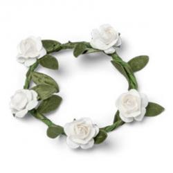 4 Couronnes de fleurs blanches