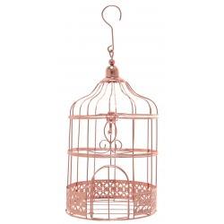 Petite tirelire cage métal Rose Gold