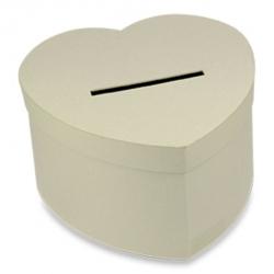 Urne en carton de couleur Kraft coeur