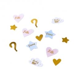 100 confettis gender reveal fille ou garçon