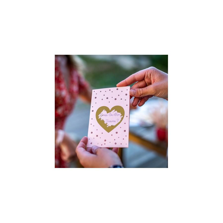 2 cartes à gratter : Veux tu être mon témoin Rose Gold