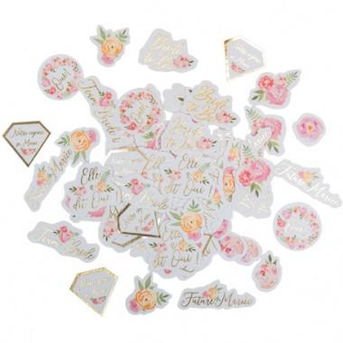 100 confettis evjf fleuri...