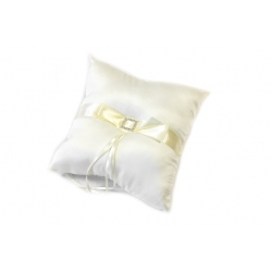 Coussin alliances gm noeud + strass ivoire