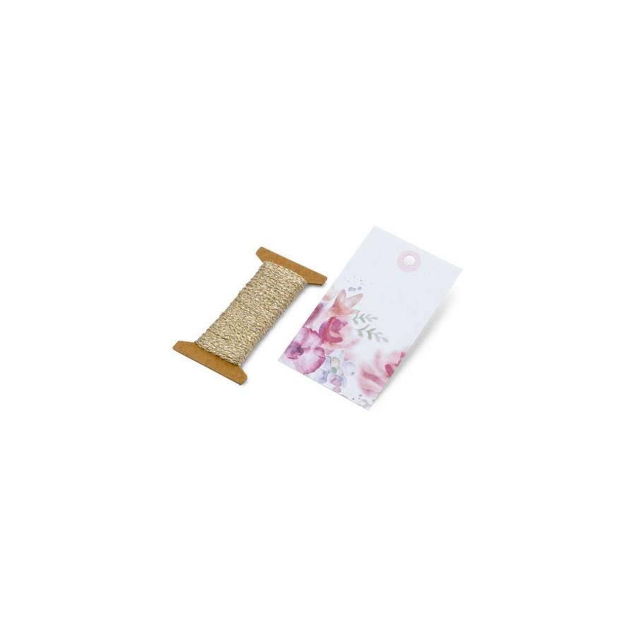 12 etiquettes liberty + cordelette 4.5x7.5cm