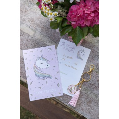 Carte invitation Licorne