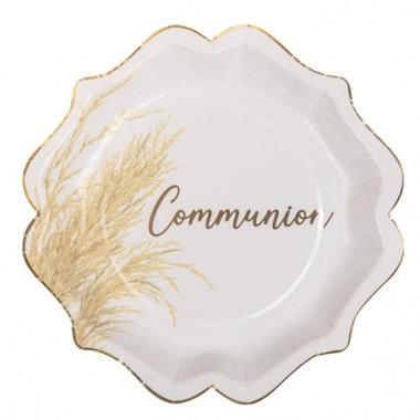 8 assiettes communion pampa...