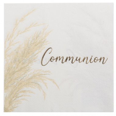 serviettes communion pampa