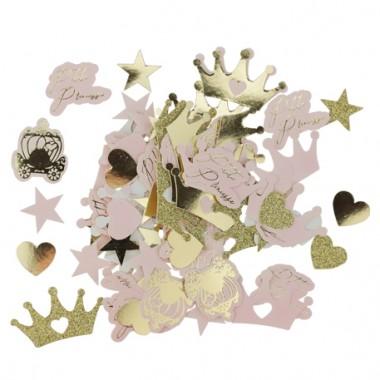 confettis princesse rose