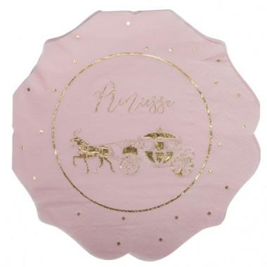 serviettes princesse rose