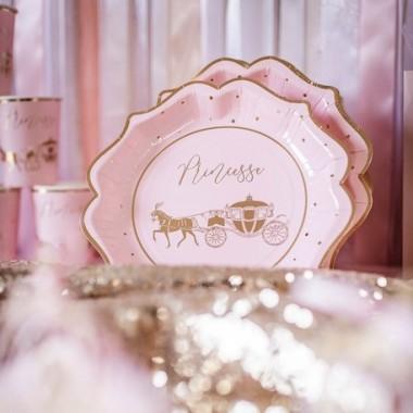 assiettes princesse rose