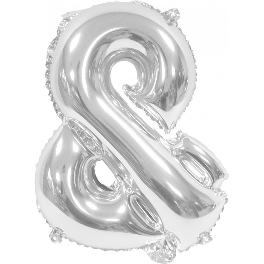"""Ballon uni metallise """"&""""  (haut. 36 cm)"""