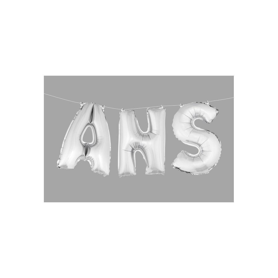 """Ballons lettres """"ans"""" (3 pcs) haut. 36 cm"""