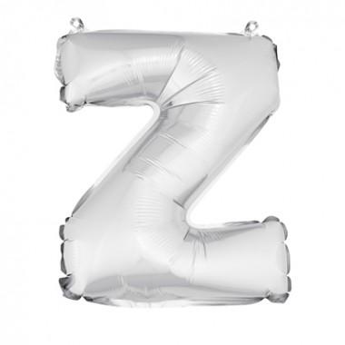 "ballon uni métallise ""z""  (haut. 36 cm)"