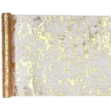 Chemin de Table Fantaisie Brillant Polyester Or