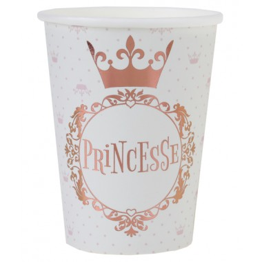 10 gobelets Princesse métal
