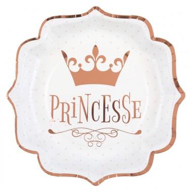10 Assiettes Princesse métal