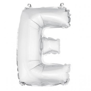 "ballon uni metallise ""e""  (haut. 36 cm)"
