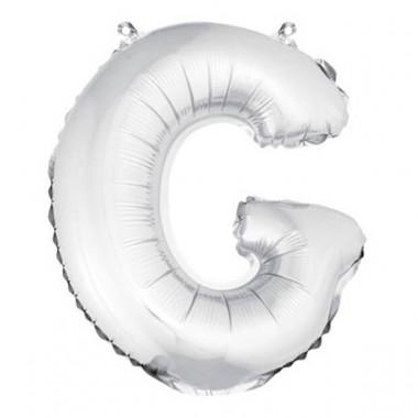 """ballon uni metallise """"g""""  (haut. 36 cm)"""