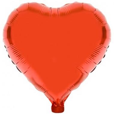 Ballon métallisé couleur rouge
