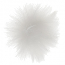 Pompons fourrure blanc