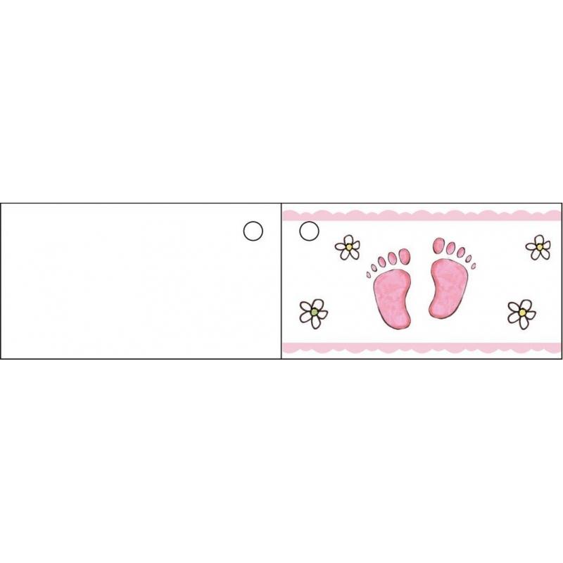 etiquette pied rose