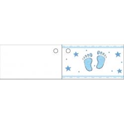 Etiquette pied bleu
