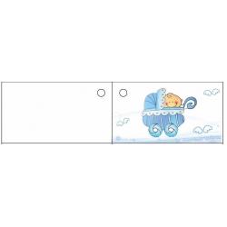 Etiquettes naissances-bapteme bleu