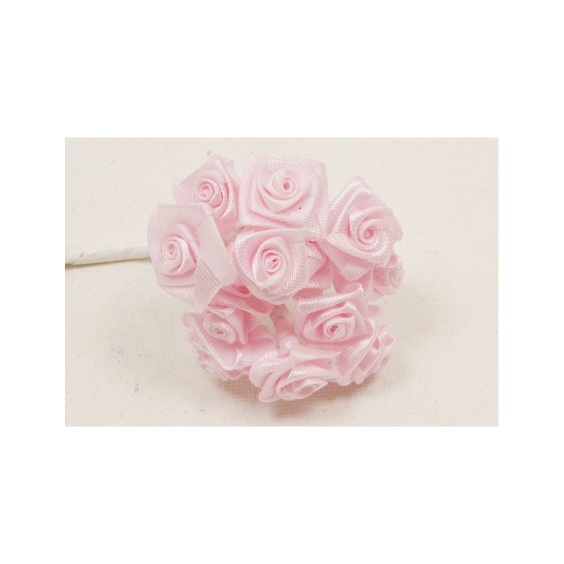 MINI-ROSE EN SATIN ROSE