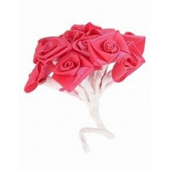 Mini-rose en satin de couleur Fuchsia