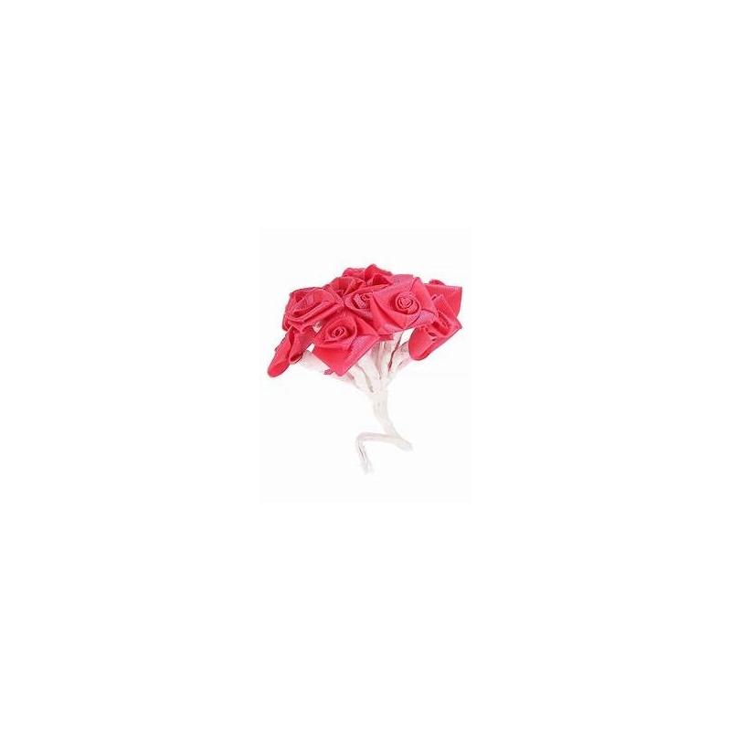 Mini-rose en satin de couleur Fuchsia