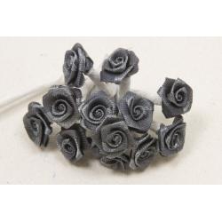 Mini roses en satin (x72)