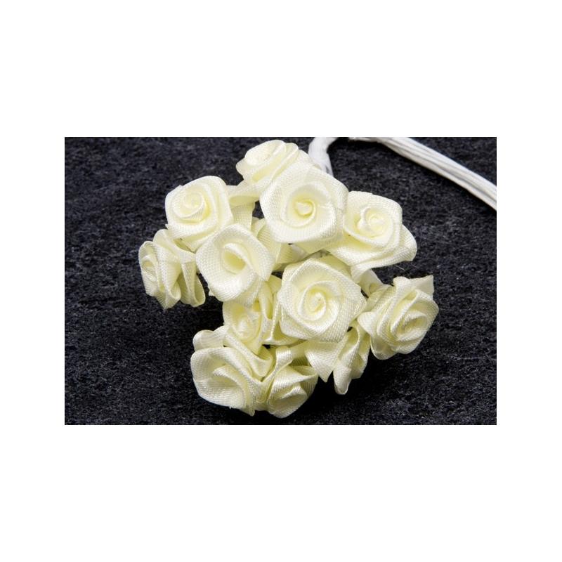Mini rose ivoire x 72