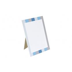 Porte menu friandise bleu